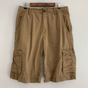 BKE | Men's Khaki Cargo Shorts Ashbridge Cargos